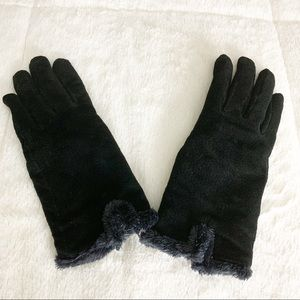 Accessories - Sale! Black Faux Fur Lined Gloves